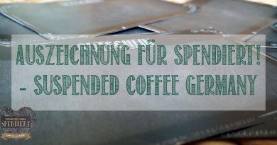 """Auszeichnung für Suspended Coffee Germany- Spendiert! im Wettbewerb """"Aktiv für Demokratie und Toleranz"""" 2017"""